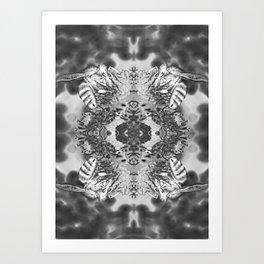 bees black and white Art Print