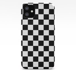 Classic Black and White Race Check Checkered Geometric Win iPhone Case