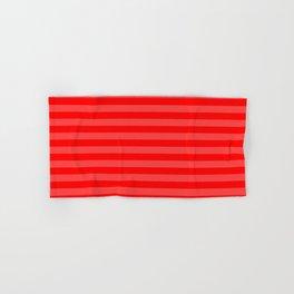 Scarlet Thin Horizontal Stripes Hand & Bath Towel