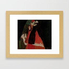 """Egon Schiele """"Cardinal and Nun (Caress)"""" Framed Art Print"""