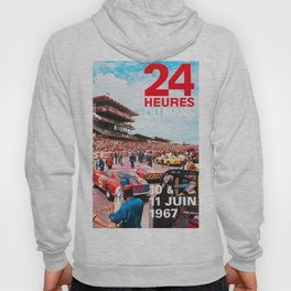 24hs Le Mans 1967, vintage poster Hoody