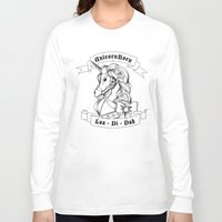 skyrim Long Sleeve T-shirts featuring Skyrim Parody - Unicorn Born LAA DI DAH by MagicCircle