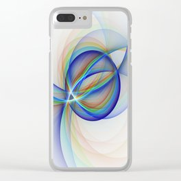 Colorful Design, Modern Fractal Art Clear iPhone Case