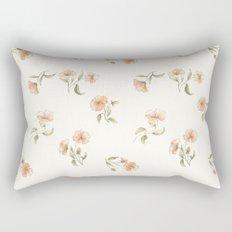 Bright Floral Pattern Rectangular Pillow