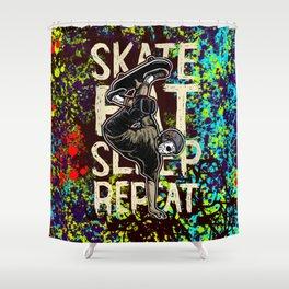 Skate Shower Curtain