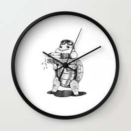 Paintball Turtle Wall Clock
