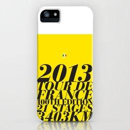 2013 Tour de France: Maillot Jaune iPhone Case