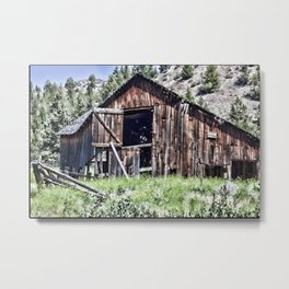 Old Western Barn Metal Print