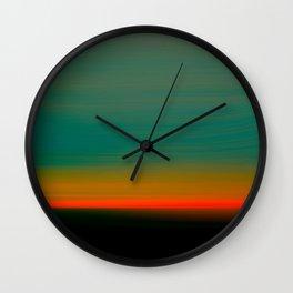 New Jersey Sunset Wall Clock