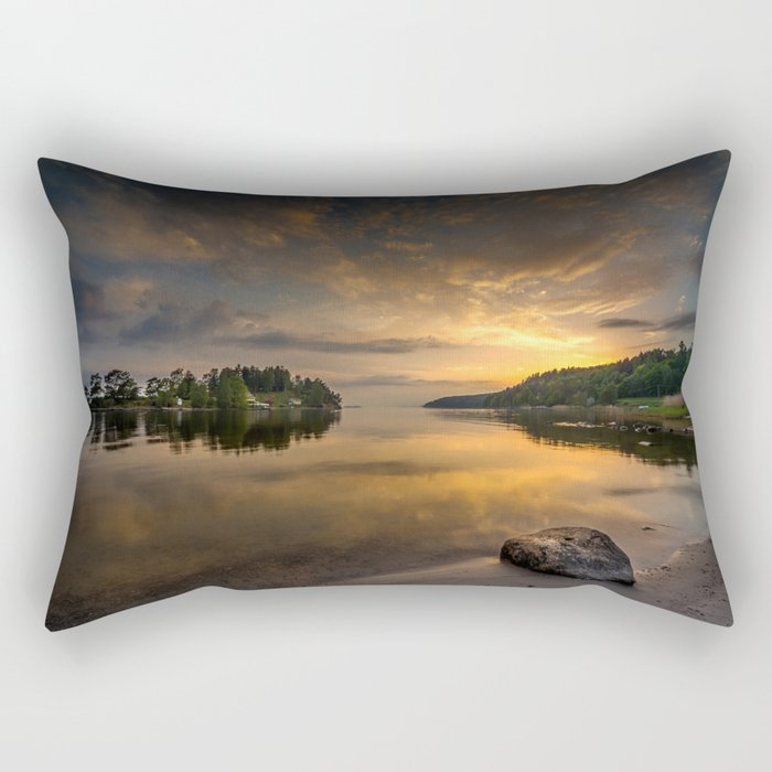 Serenity by dawn Rectangular Pillow