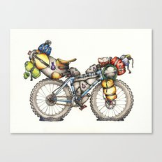Bikepacking Full Color!! Canvas Print