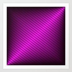 Purple Oblique Stripes Art Print