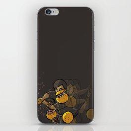 Grapefruit samurai iPhone Skin
