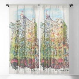 Casa Batllo Barcelona Sheer Curtain