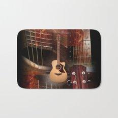 The Acoustic Guitar  Bath Mat