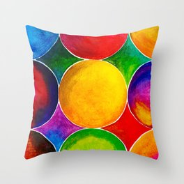 Geometric Brights #2 Throw Pillow