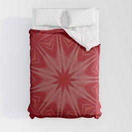 Blood red Flower Comforters