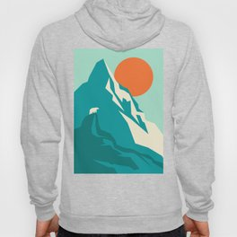As the sun rises over the peak Hoody