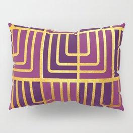 Art Deco Rag Doll In Purple Pillow Sham