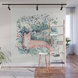 Fox in the Meadow Wall Mural