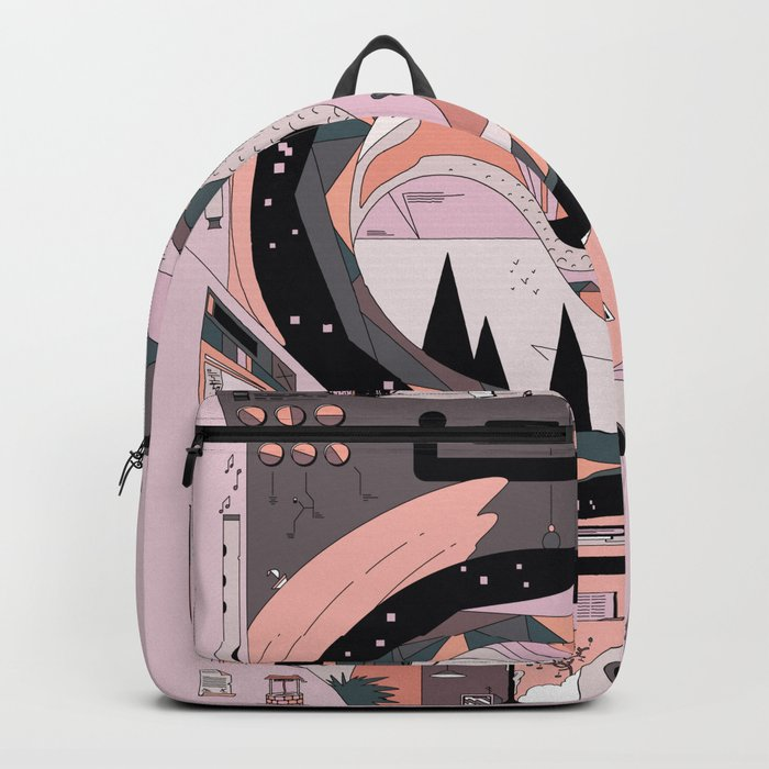 Dinosaur In The Kitchen Backpack