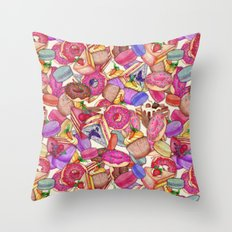 Sugar, Spice & All Things Nice Throw Pillow