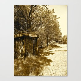 Old Train Stop in Denmark  Canvas Print