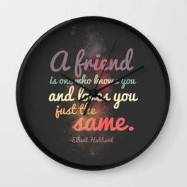Friendship | Elbert Hubbard Wall Clock