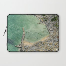 Aerial Views over St. Ives, Cornwall Laptop Sleeve