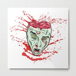 Zombie: Blooded Head Metal Print