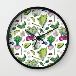 Superfood Pattern Wall Clock