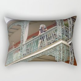 New Orleans Lady Mannequin on a Balcony Rectangular Pillow