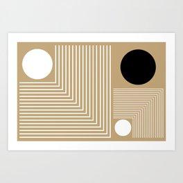 Lines & Circles Art Print