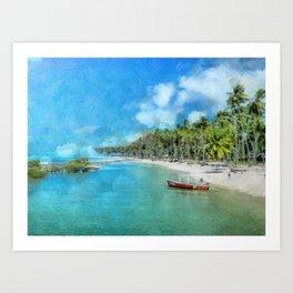Praia de Carneiros Art Print