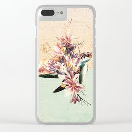 Turtle and bouquet Clear iPhone Case