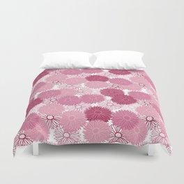 Pink aster flowers Duvet Cover