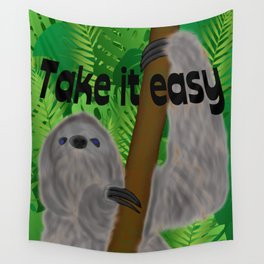 Sloth in Jungle Wall Tapestry