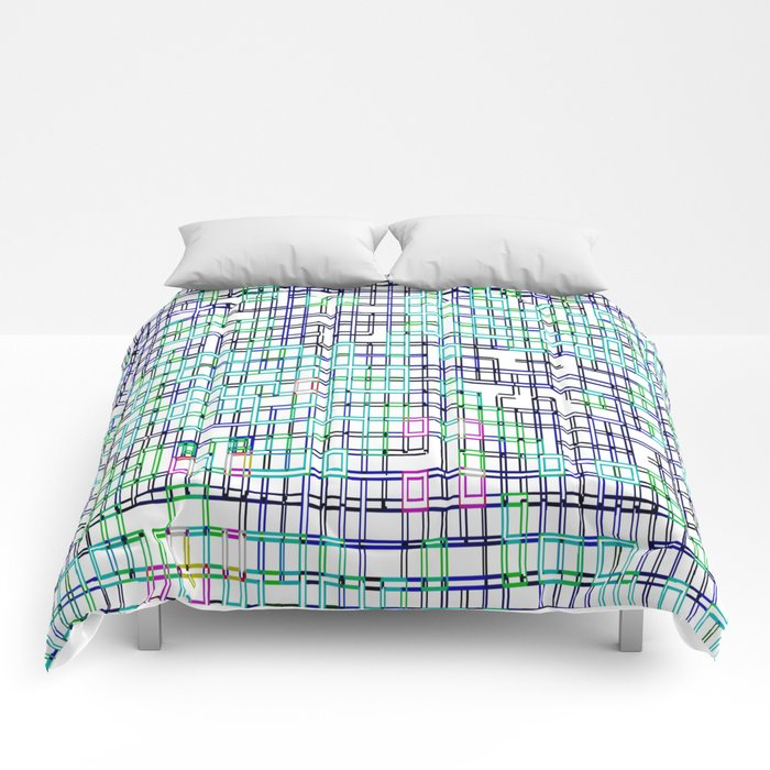 lines colors mystery relaxation in mystery Comforters