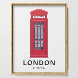 London England K6 Telephone Serving Tray