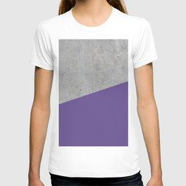 Concrete with Ultra Violet Color T-shirt