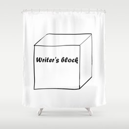 Funny Writer Gift: Writer's Block Print Shower Curtain