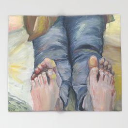 Boko maru painting Throw Blanket