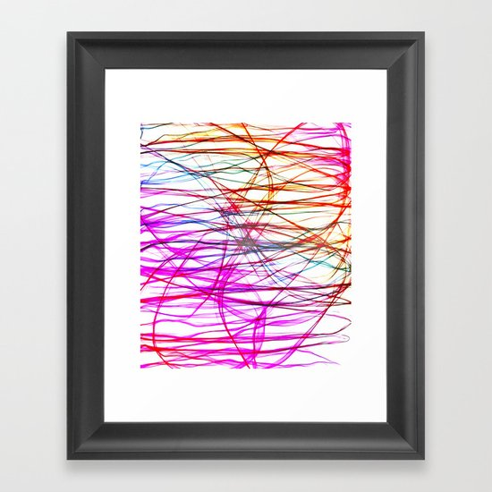 PIXEL RAINBOW Framed Art Print