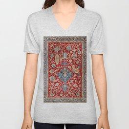 Turkey Hereke Old Century Authentic Colorful Royal Red Blue Blues Vintage Patterns Unisex V-Neck