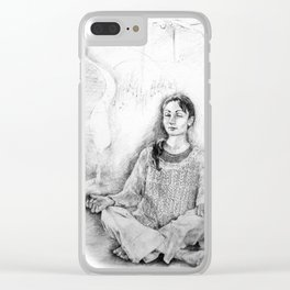Meditation Clear iPhone Case