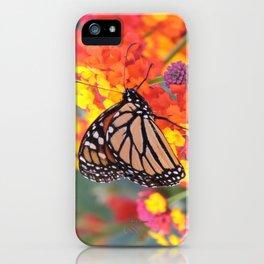 Monarch Feeding on Lantana iPhone Case