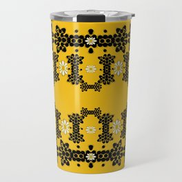 Ornate circulate is festive in  flower decorative Travel Mug