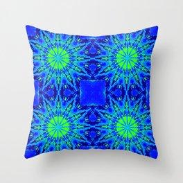 Green & Blue Starburst Series Throw Pillow