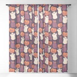 Halloween Marshmallows Sheer Curtain