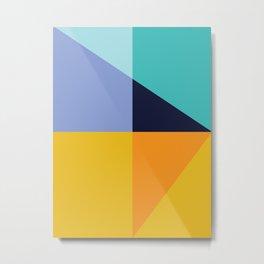 Colorful and geometric art Metal Print
